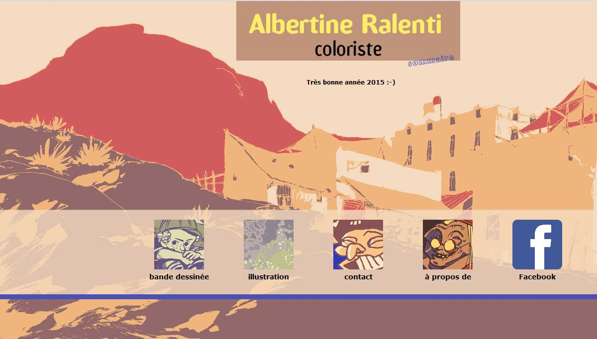 page d'accueil de l'ancien site albertineralenti.com