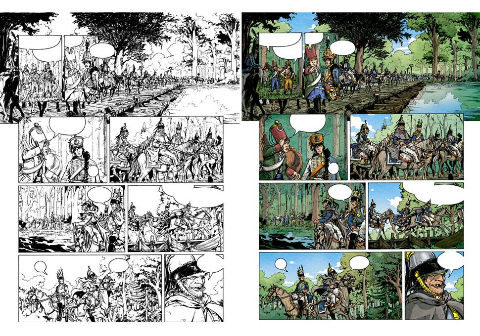 planche couleur extraite de La Bataille tome 1