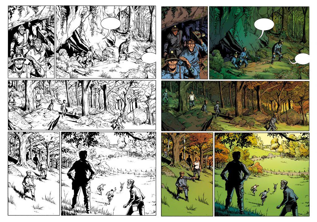 Souterrains planche 108 de Baudy, éditions Casterman