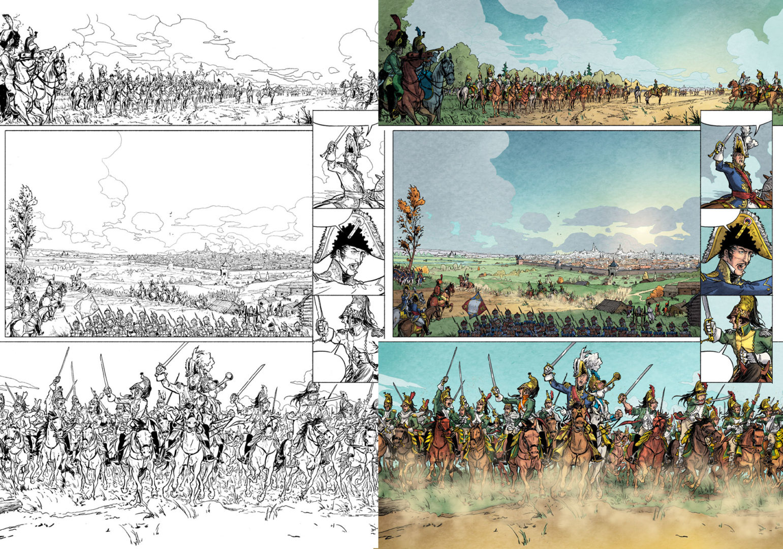 planche de Bérézina tome 1 de Rambaud, Richaud et Gil, éditions Dupuis