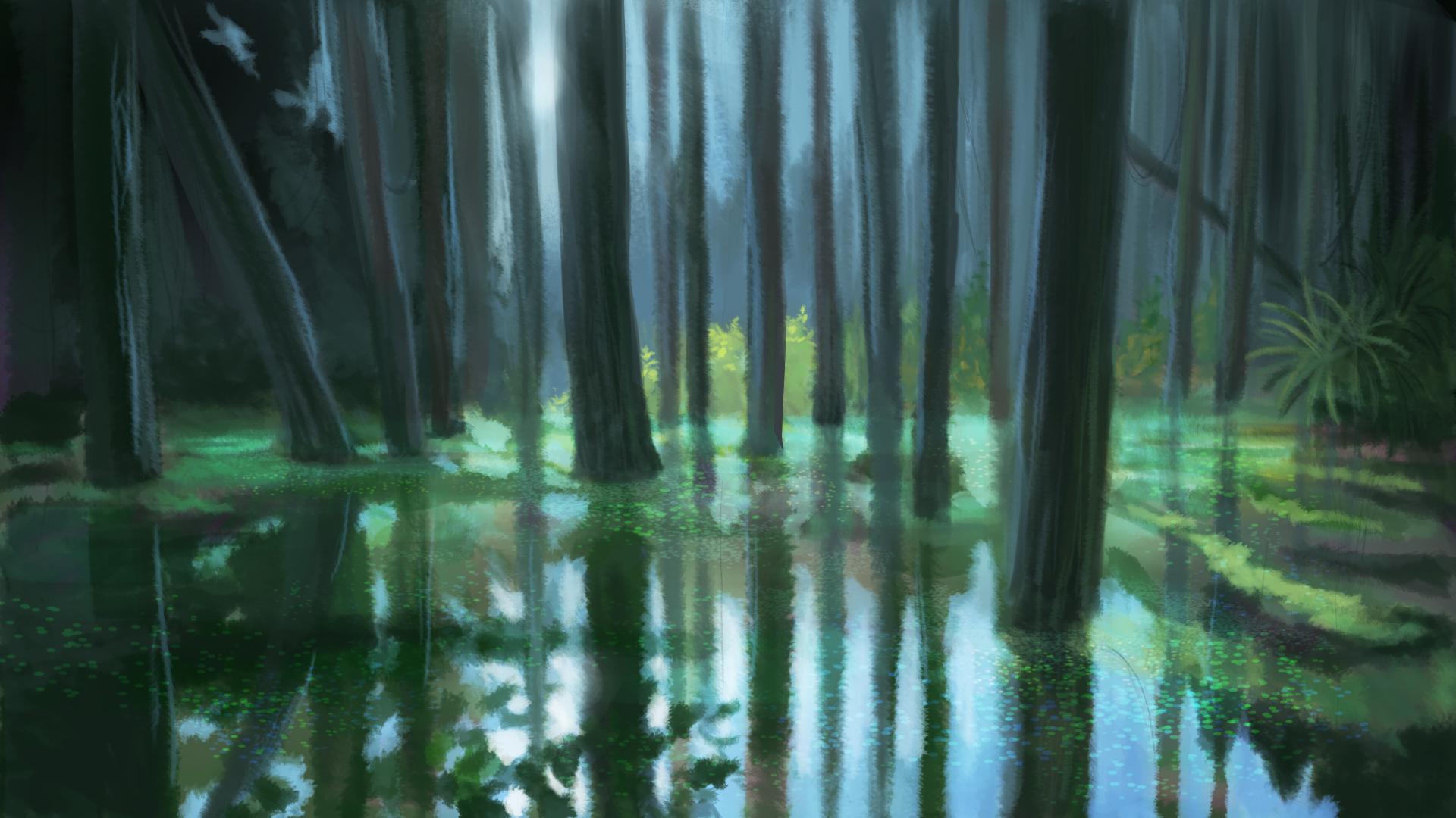 Peinture numérique de marais