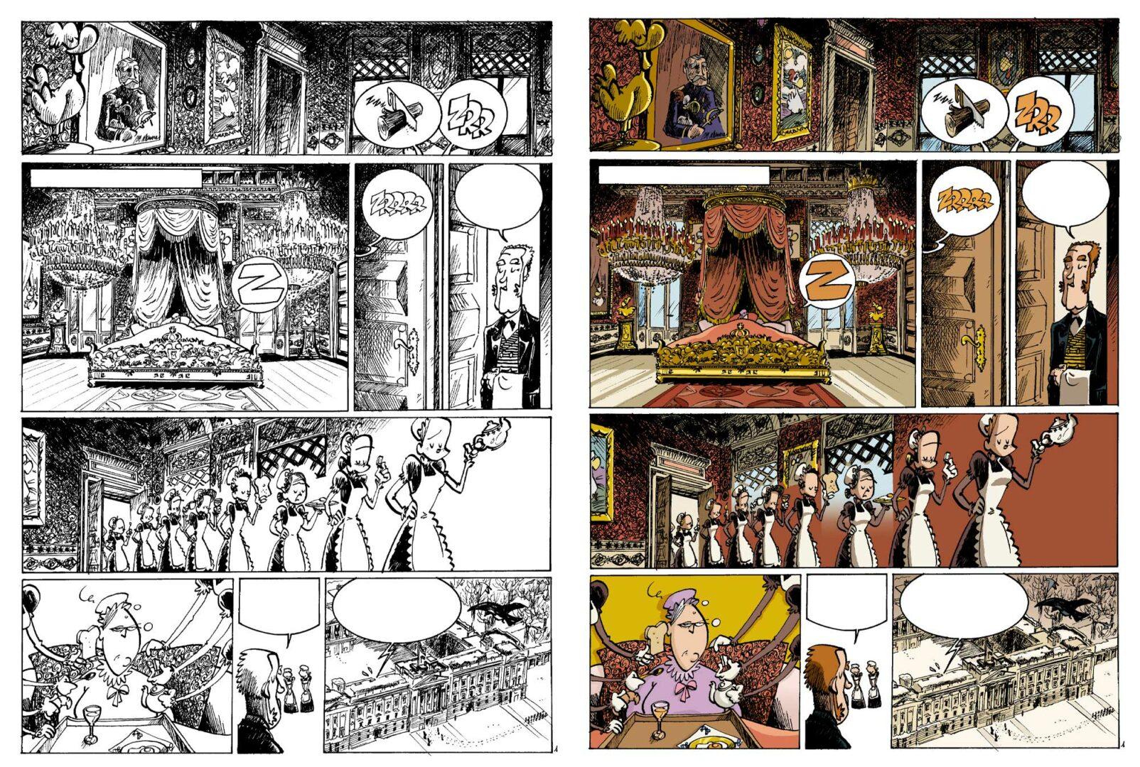 planche de H&H de Arnü West, éditions Milan/Treize Etrange